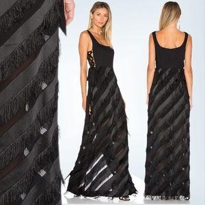 NWT Rachel Zoe Corrina Fringe Long Gown